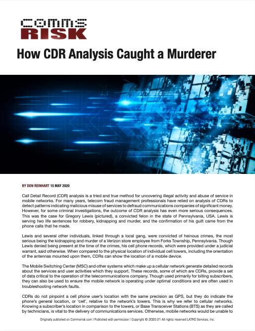 How CDR Analysis Caught A Murderer